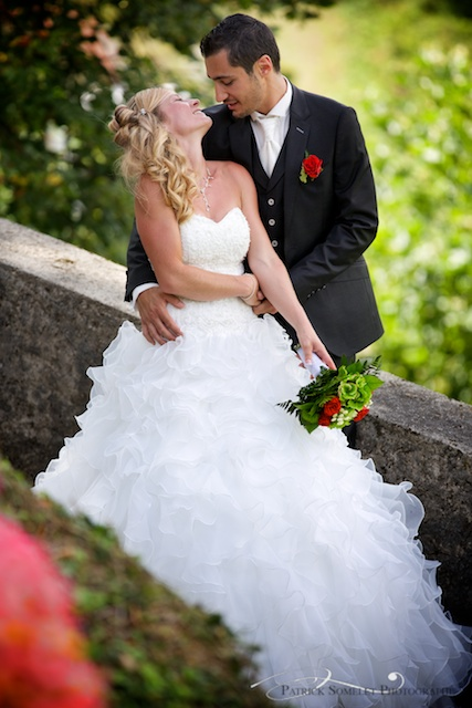 Photo de couple au Château de Arvillard en Savoie.