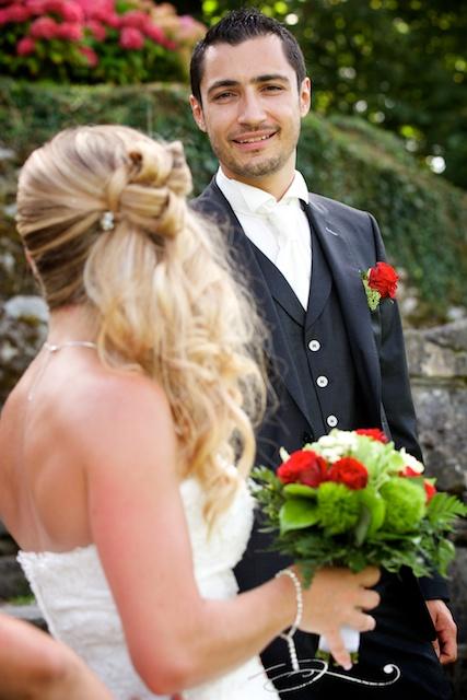 Photo du marié au Château de Arvillard en Savoie.