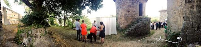 Photobooth en Ardèche au château de Jaujac en Ardèche.