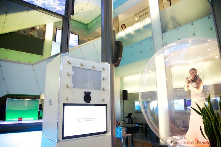 Photobooth à la Citée du Temps de Genève, Suisse.