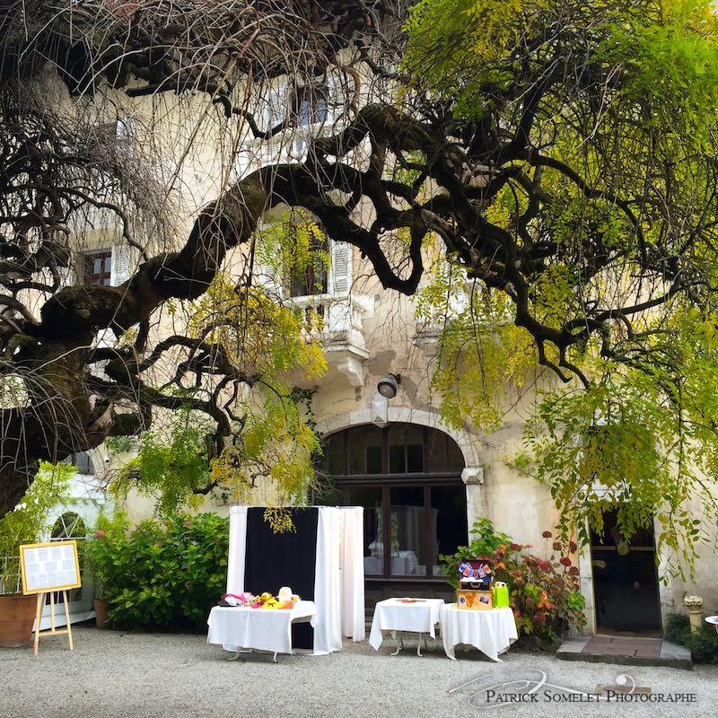 Photobooth à l'abbaye de Talloires en Haute-Savoie.