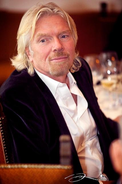 L'inventeur de Virgin, Sir Richard Branson au WEF de Davos en 2009.