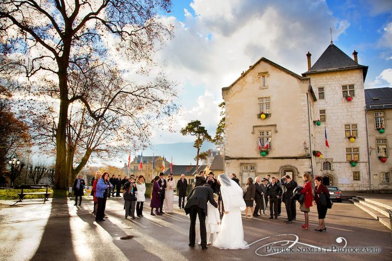 Mariage hivernal à Aix-les-Bains