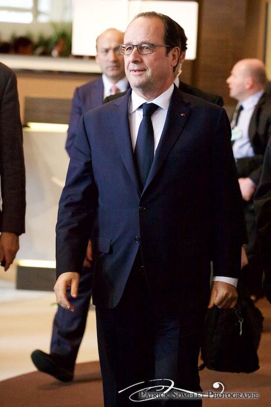Le président François Hollande