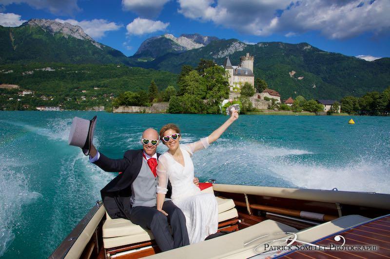 Reportage mariage sur le lac d'Annecy