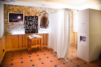 La cabine de Photo Booth.