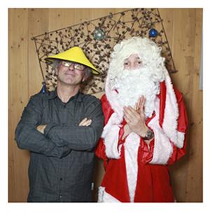 Photobooth pour un arbre de Noël d'entreprise.